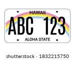 car license hawaii plate. aloha ... | Shutterstock .eps vector #1832215750
