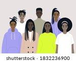 black community  african people ... | Shutterstock .eps vector #1832236900
