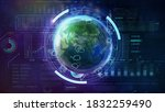 planet earth in space and... | Shutterstock . vector #1832259490