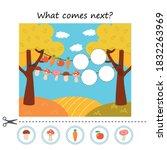 autumn preschool printable... | Shutterstock .eps vector #1832263969