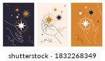 stylized set of elegant female... | Shutterstock .eps vector #1832268349