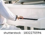 Pianist Hands In White Clothes...