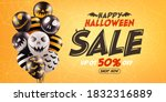 halloween sale promotion poster ... | Shutterstock .eps vector #1832316889