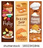 cakes desserts  bakery bread...   Shutterstock .eps vector #1832341846