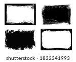 grunge frames isolated vector... | Shutterstock .eps vector #1832341993