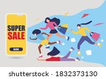 sale promotion with text super... | Shutterstock .eps vector #1832373130