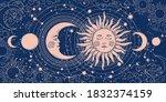 magic banner for astrology ... | Shutterstock .eps vector #1832374159