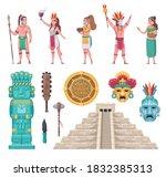 maya ancient civilization...   Shutterstock .eps vector #1832385313