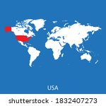 vector map of the usa | Shutterstock .eps vector #1832407273