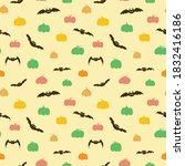 seamless pattern for halloween  ... | Shutterstock .eps vector #1832416186
