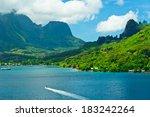 paradise view of moorea islands ...   Shutterstock . vector #183242264