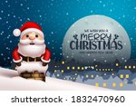 merry christmas vector... | Shutterstock .eps vector #1832470960