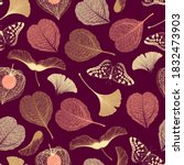 seamless floral pattern with... | Shutterstock .eps vector #1832473903