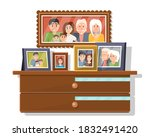 family frame. isolated family... | Shutterstock .eps vector #1832491420