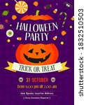 halloween party  trick or treat ... | Shutterstock .eps vector #1832510503