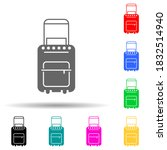 suitcase on wheels multi color...
