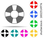 saving circle multi color style ...