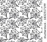 spider web seamless pattern.... | Shutterstock .eps vector #1832517199