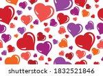 red love hearts seamless vector ...   Shutterstock .eps vector #1832521846