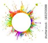super macro shot of colored... | Shutterstock . vector #183253088