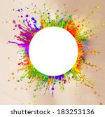 super macro shot of colored... | Shutterstock . vector #183253136