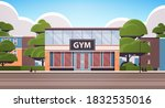 no people sport gym exterior... | Shutterstock .eps vector #1832535016