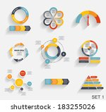 collection of infographic... | Shutterstock .eps vector #183255026