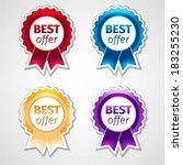 vector labels set | Shutterstock .eps vector #183255230