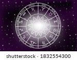 zodiac signs concept.horoscope...   Shutterstock . vector #1832554300