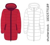 vector  isolated  red coat ... | Shutterstock .eps vector #1832575189