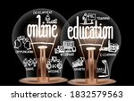 photo of light bulbs with...   Shutterstock .eps vector #1832579563