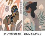 texture vintage portrait beauty ... | Shutterstock . vector #1832582413