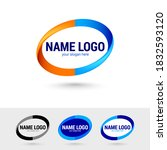 oval graphic logos templates.... | Shutterstock .eps vector #1832593120