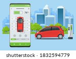 concept of electric vehicle...   Shutterstock .eps vector #1832594779