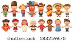 different culture standing... | Shutterstock .eps vector #183259670