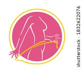 weight loss logo   dieting... | Shutterstock .eps vector #1832622076