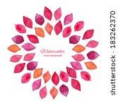 watercolor floral frame. design ... | Shutterstock .eps vector #183262370