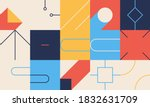 abstract linear geometric... | Shutterstock .eps vector #1832631709