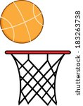 abstract basketball hoop with... | Shutterstock .eps vector #183263738
