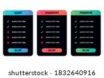 dark vector price table...