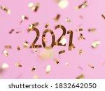 happy new year 2021. shiny... | Shutterstock . vector #1832642050