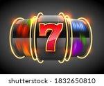 black neon slot machine coins... | Shutterstock .eps vector #1832650810