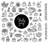 thanksgiving doodles set....   Shutterstock .eps vector #1832655640