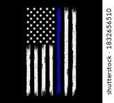 thin blue line flag vector... | Shutterstock .eps vector #1832656510