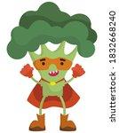 funny vegetable superhero....   Shutterstock .eps vector #1832668240