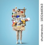 Cheerful Chef Keeps A Huge Pile ...