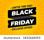 black friday exclusive offers...   Shutterstock .eps vector #1832668393