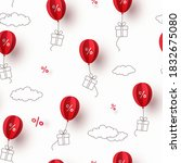 special offer red balloons and... | Shutterstock .eps vector #1832675080