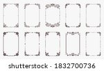 set of decorative vintage... | Shutterstock .eps vector #1832700736