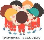 illustration of kids boys... | Shutterstock .eps vector #1832701699